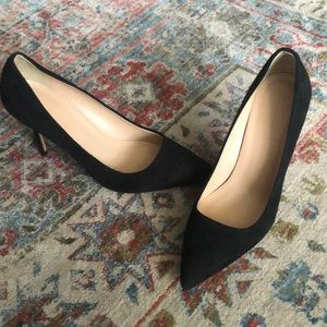 J.Crew black suede pumps size 8